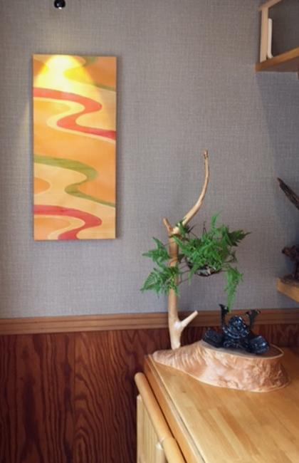 季節料理卯月さんに飾られているキモノボードタタカリズム